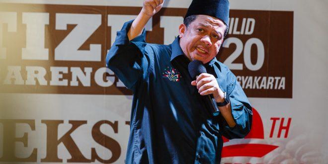 Fahri Hamzah: Kalau Saya Jadi Presiden Masalah Selesai